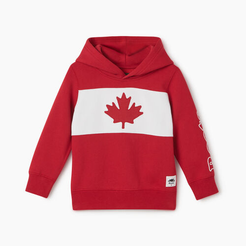 Roots-Kids New Arrivals-Toddler Blazon Hoody-Sage Red-A
