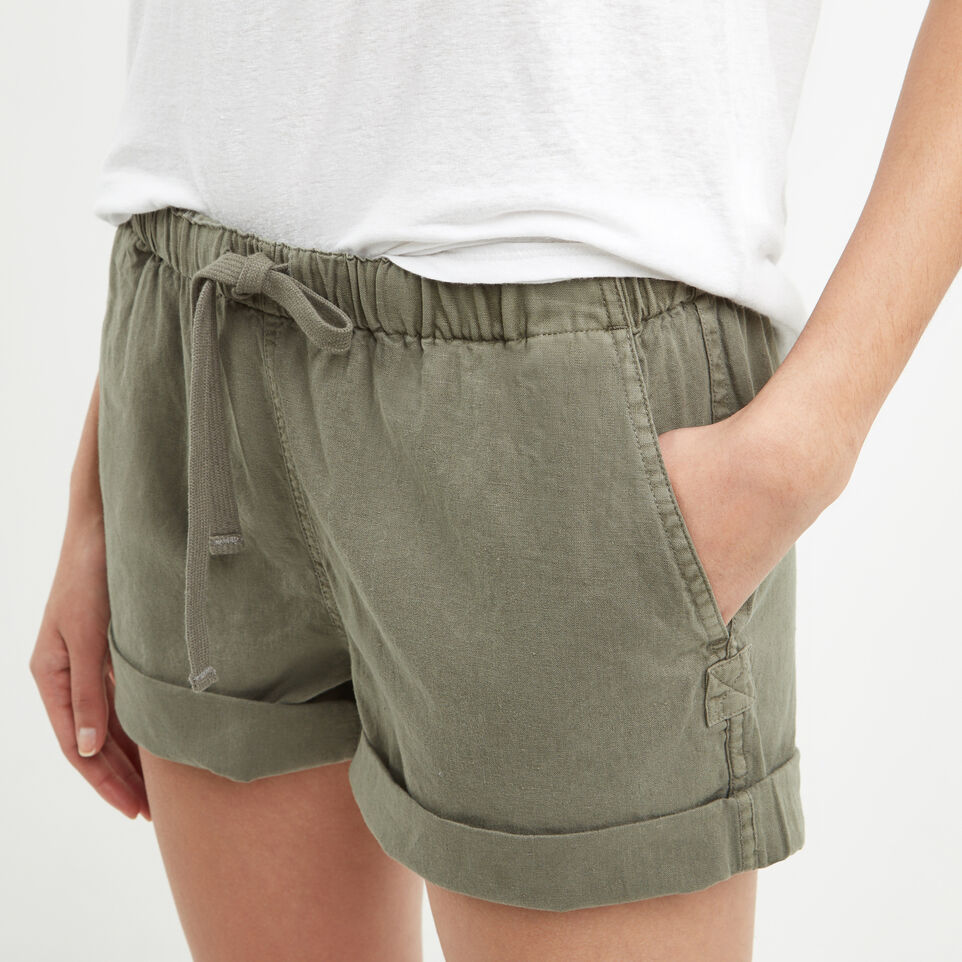 Roots-Clearance Women-Woodland Short-Dusty Olive-C