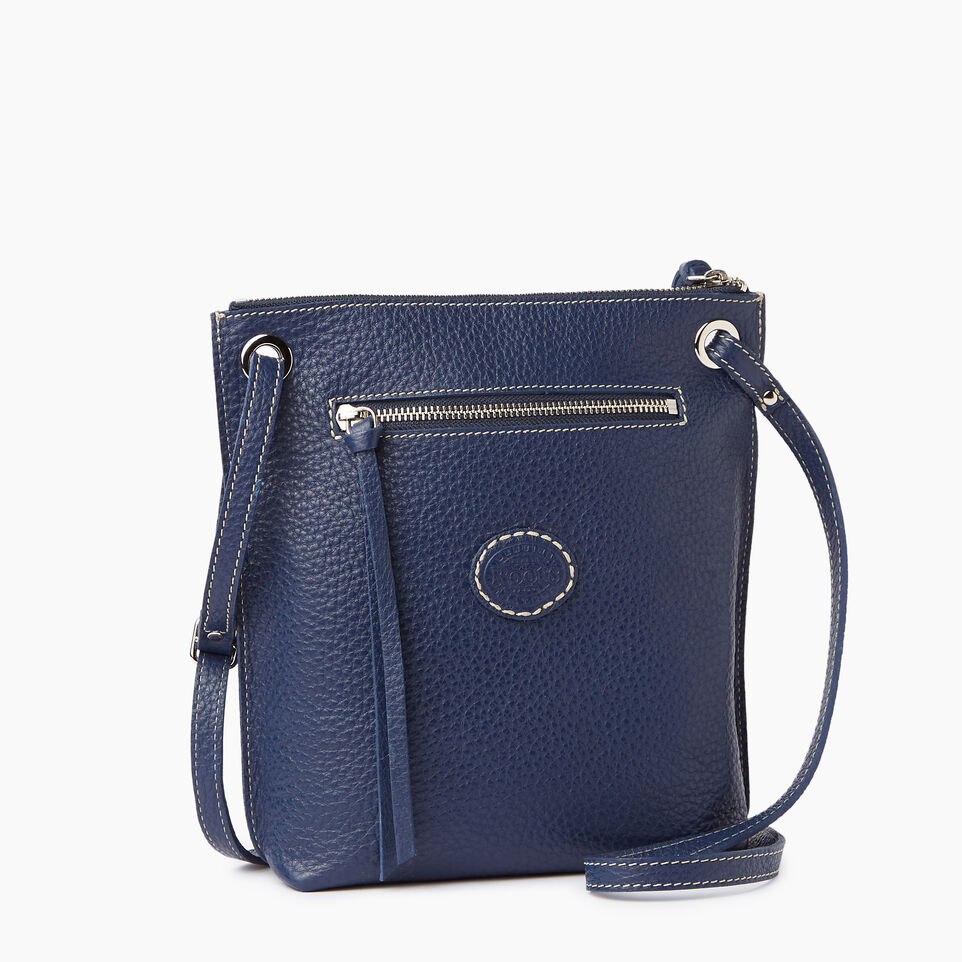 Roots-Leather  Handcrafted By Us Our Favourite New Arrivals-Festival Bag-Navy-C