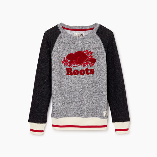 Roots-Clearance Kids-Boys Roots Cabin Crew Sweatshirt-Salt & Pepper-A