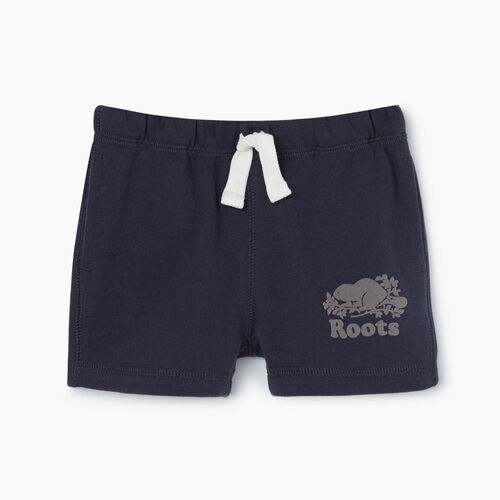 Roots-Kids Bottoms-Baby Original Short-Graphite-A