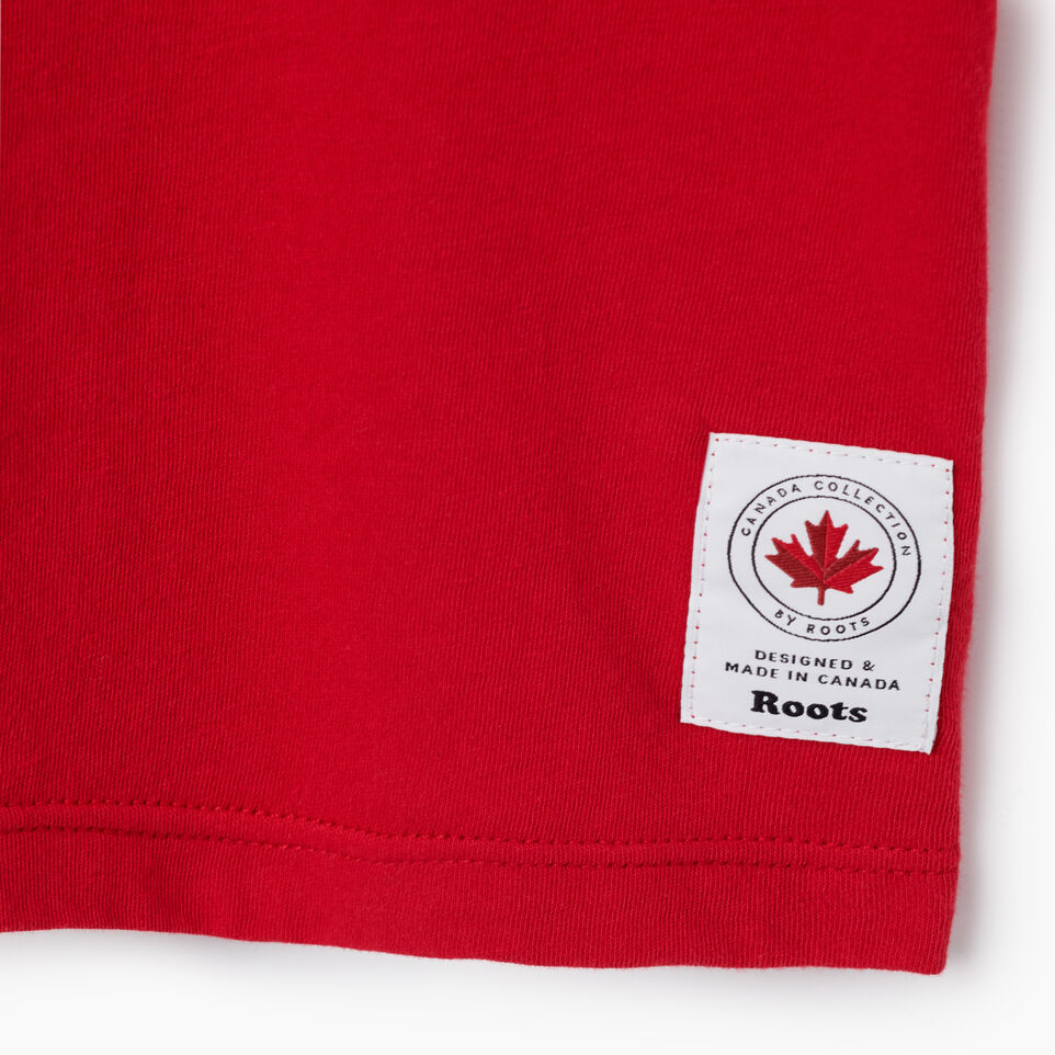 Roots-New For July Women-Womens Cooper Canada T-shirt-Sage Red-D