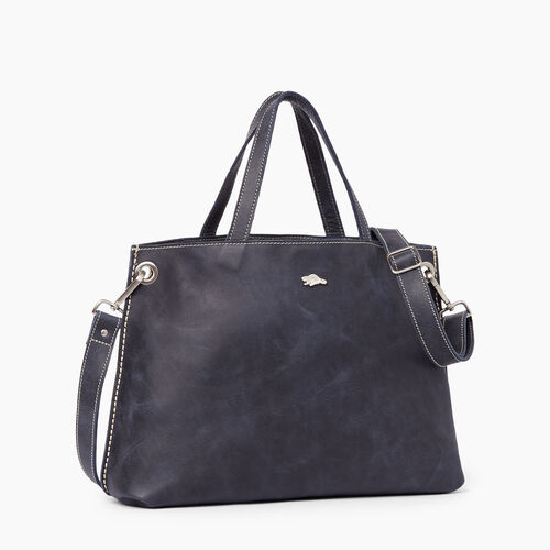 Roots-Women Totes-Edie Tote Tribe-Dark Navy-A