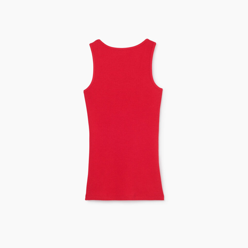 Roots-New For July Women-Cooper Canada Rib Tank-Sage Red-B