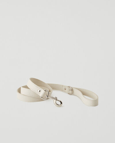 Roots-Leather Dog Accessories-Leather Dog Leash Parisian-Ivoire-A