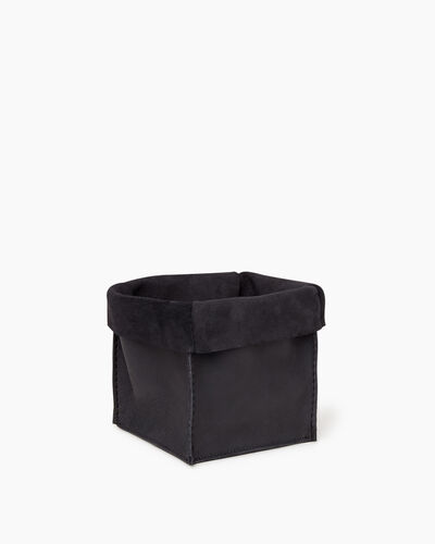 Roots-Leather Roots Home-Medium Rollover Basket Tribe-Jet Black-A