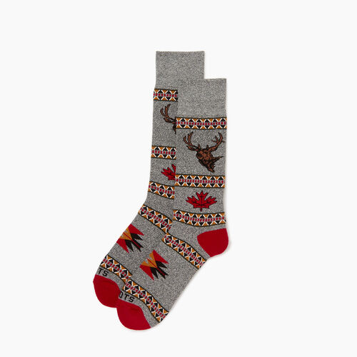 Roots-Men Our Favourite New Arrivals-Wilderness Boot Sock-Cabin Red-A