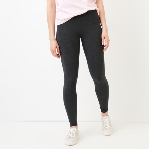 Roots-Women Bottoms-Essential Legging-Charcoal Mix-A