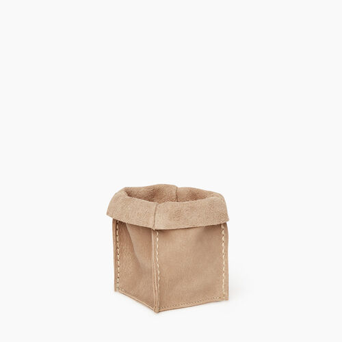 Roots-Women Leather-Small Rollover Basket Tribe-Sand-A