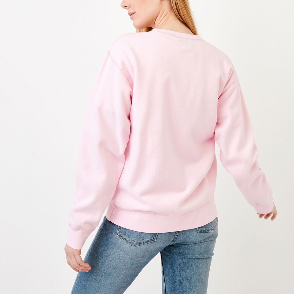 Roots-Women Our Favourite New Arrivals-Boyfriend Crew Sweatshirt-Pink Mist-D