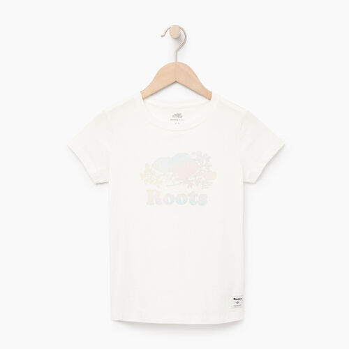 Roots-Kids Our Favourite New Arrivals-Girls Moonbeam T-shirt-Ivory-A