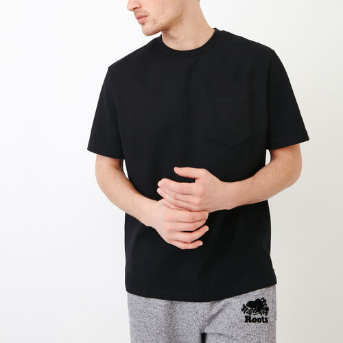 Roots-Men Our Favourite New Arrivals-10oz Pocket T-shirt-Black-A