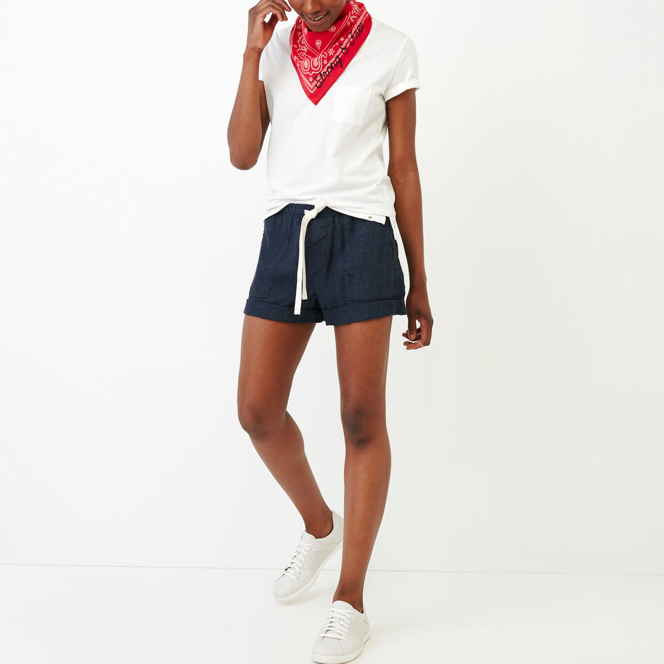 Roots-Women Our Favourite New Arrivals-Essential V T-shirt-Ivory-B