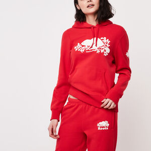 Roots-Women New Arrivals-Roots Cooper Kanga Hoody-Tomato-A