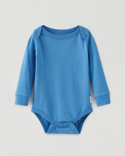 Roots-New For This Month Roots Organics-Roots Baby's First Bodysuit-Bio Indigo-A
