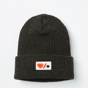 Roots-New For March Heart & Stroke-Heart & Stroke Beanie-Heather Black-A