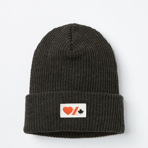 Roots-Null Heart & Stroke-Heart & Stroke Beanie-Heather Black-A