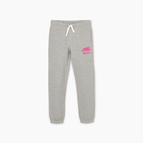 Roots-Kids New Arrivals-Girls Original Roots Sweatpant-Grey Mix-A