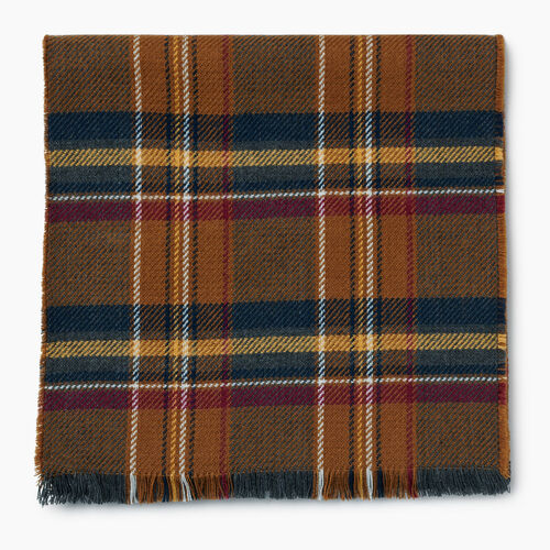 Roots-New For October Plaids-Cumberland Scarf-Treehouse Brown-A