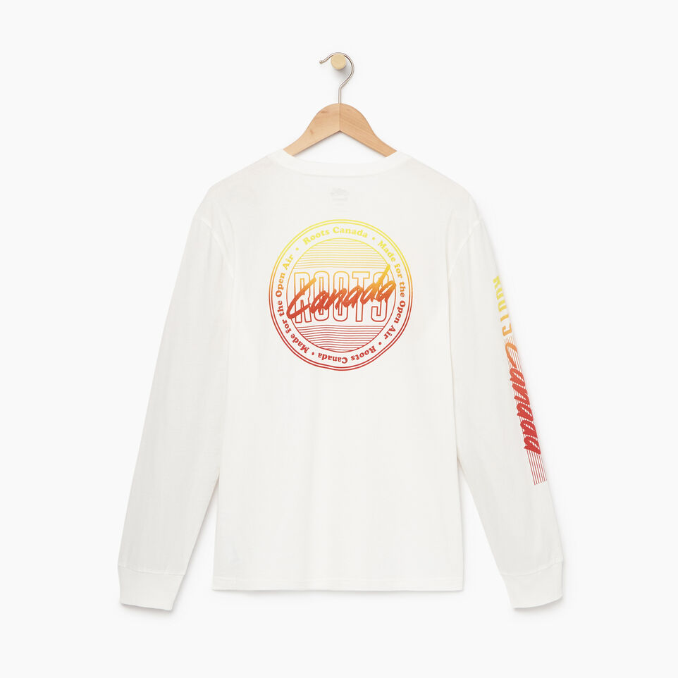 Roots-Men Our Favourite New Arrivals-Mens Roots Miami Long Sleeve T-shirt-Ivory-B