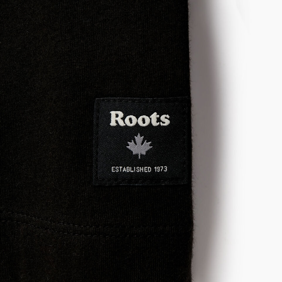 Roots-Men New Arrivals-Mens Symbols Classic Long Sleeve T-shirt-Black-C