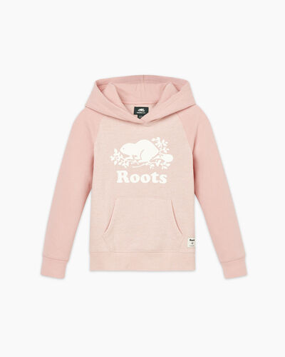 Roots-Sweats Girls-Girls Original Kanga Hoody-Pale Mauve Pepper-A