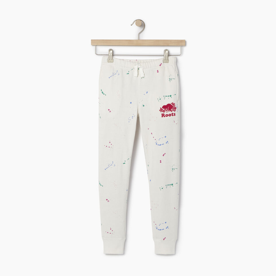 Roots-undefined-Girls Splatter Sweatpant-undefined-A