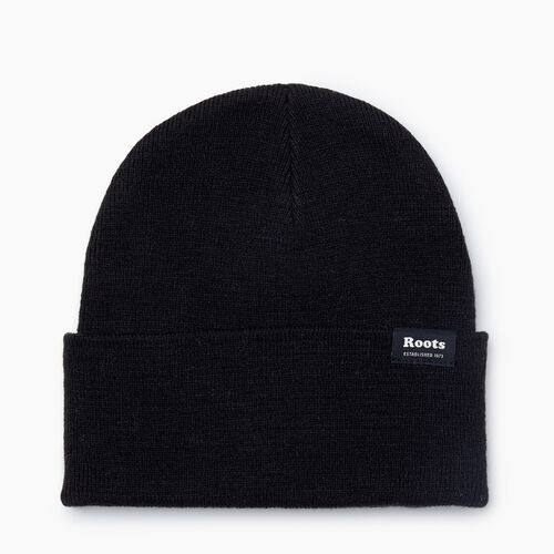 Roots-Men Accessories-Bracebridge Toque-Black-A