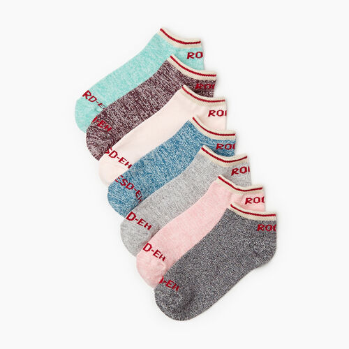 Roots-Women Socks-Womens Roots Days Of The Week Sock 7 Pack-Multi-A