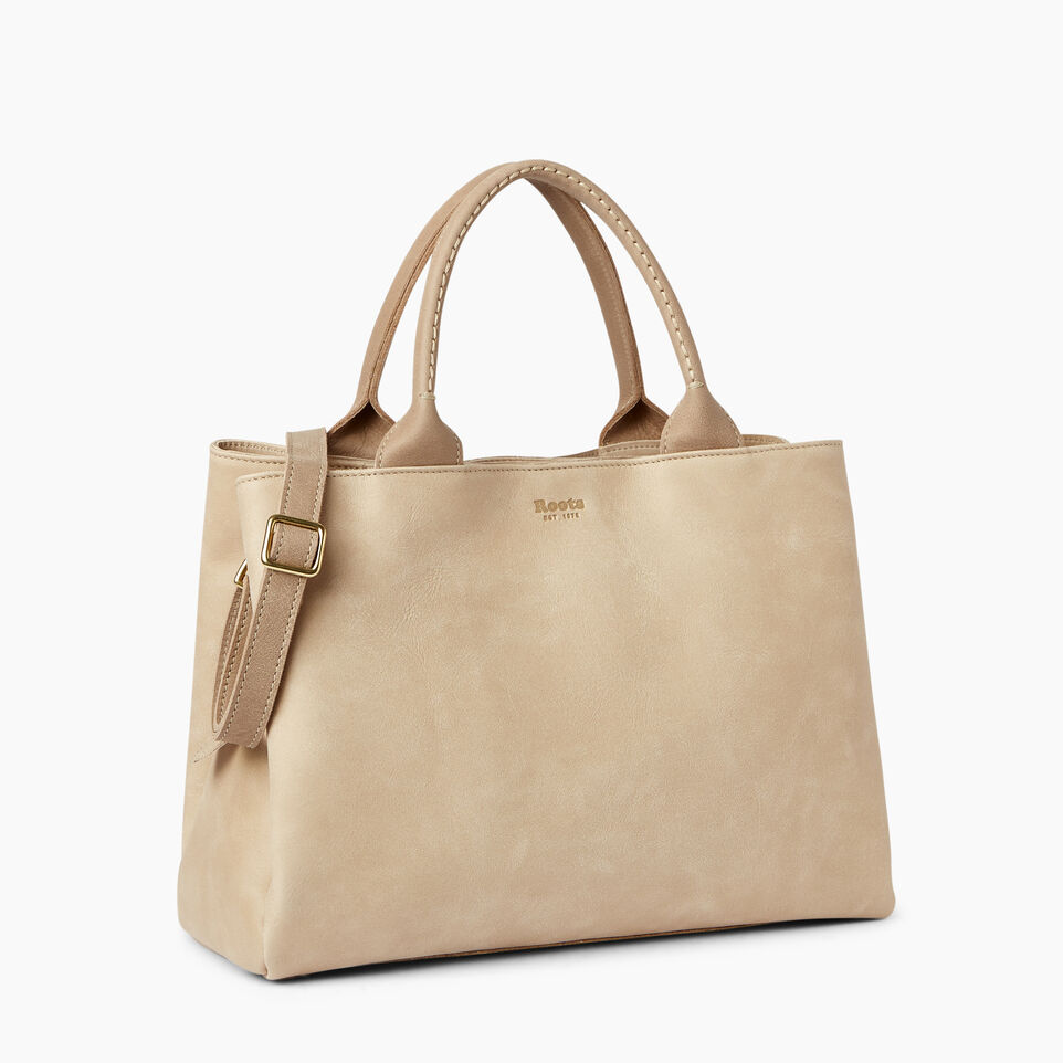 Roots-Leather  Handcrafted By Us Handbags-Mont Royal Bag-Sand/latté-A