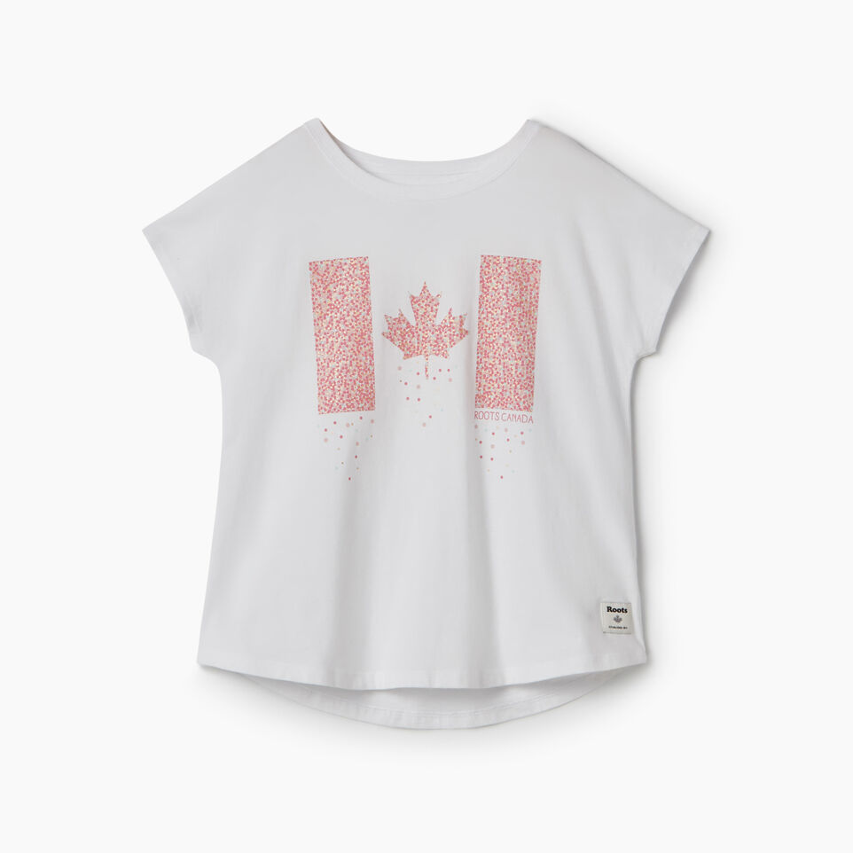 Roots-undefined-T-shirt confettis Canada pour filles-undefined-A