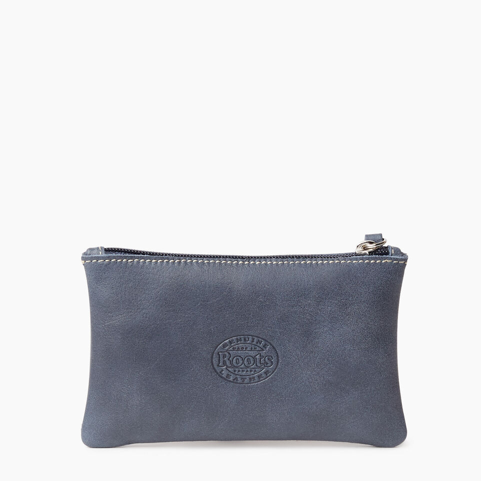 Roots-Leather New Arrivals-Medium Zip Pouch-Navy-B