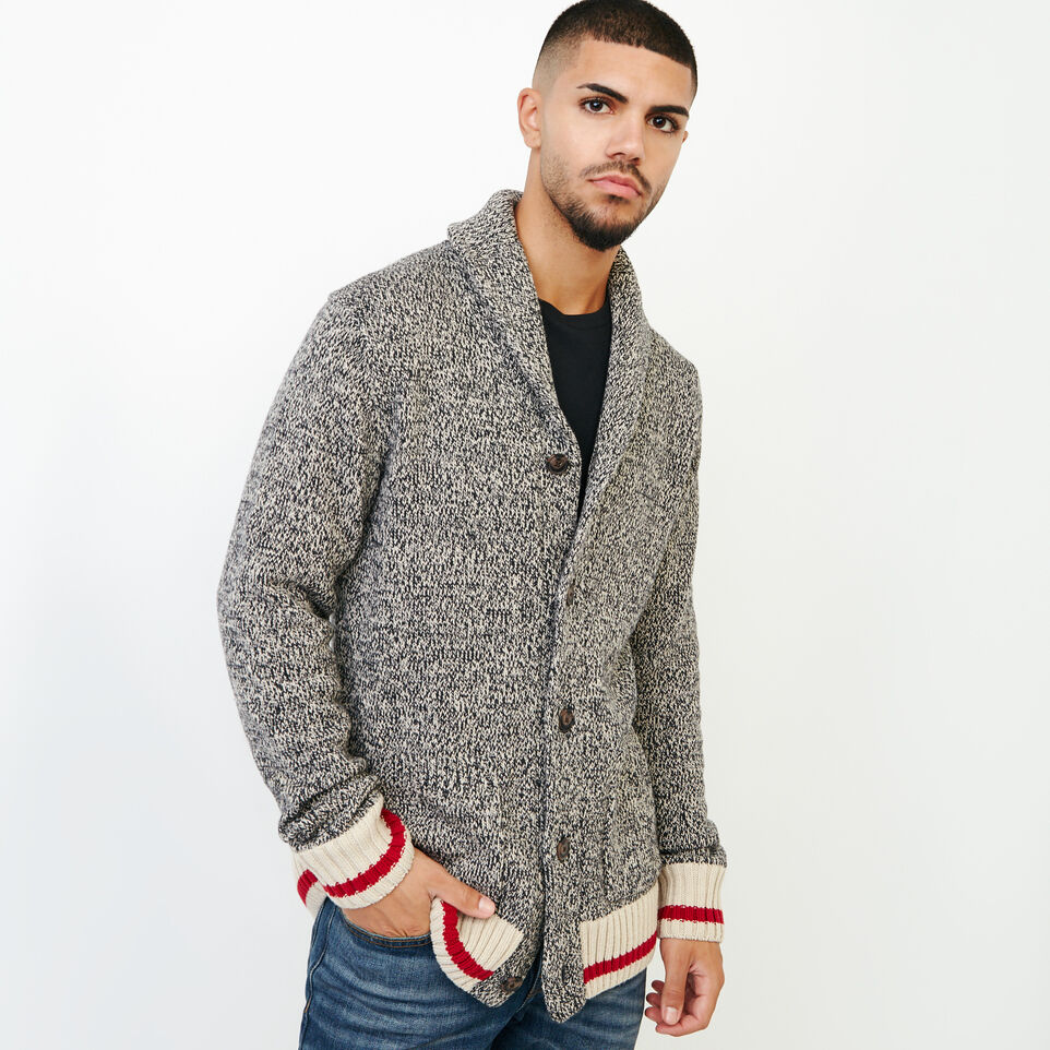 Roots-Men Sweaters & Cardigans-Roots Cotton Cabin Cardigan-Speckle-A