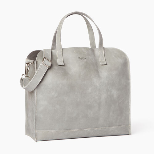 Roots-Leather  Handcrafted By Us Collections-Junction Tote-Quartz-A