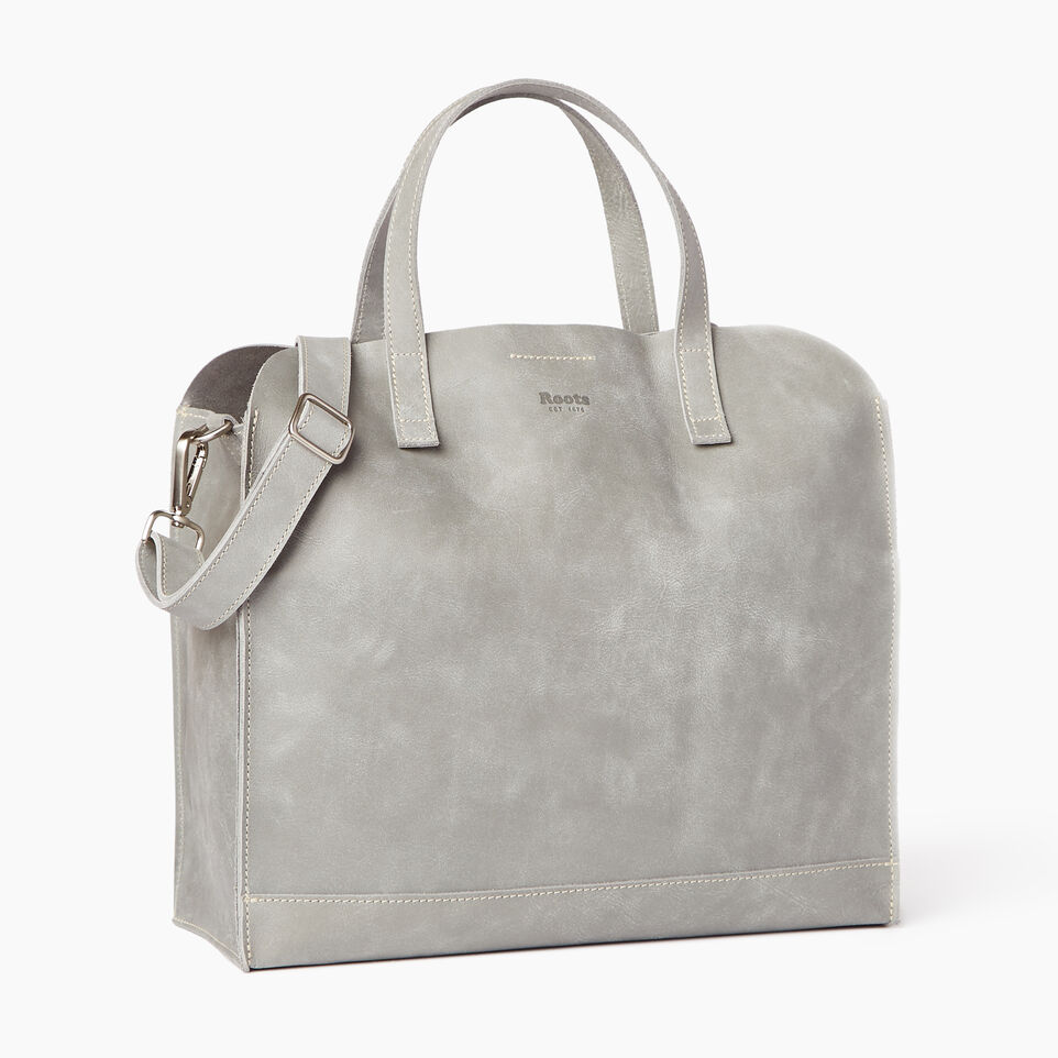 Roots-Leather Our Favourite New Arrivals-Junction Tote-Quartz-A