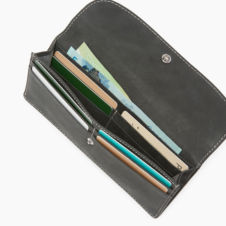 Roots-Leather  Handcrafted By Us Our Favourite New Arrivals-Riverdale Slim Wallet-Jet Black-D