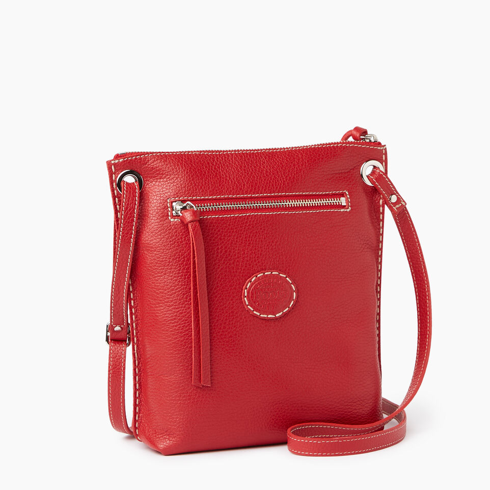 Roots-Leather  Handcrafted By Us Our Favourite New Arrivals-Festival Bag-Red-C
