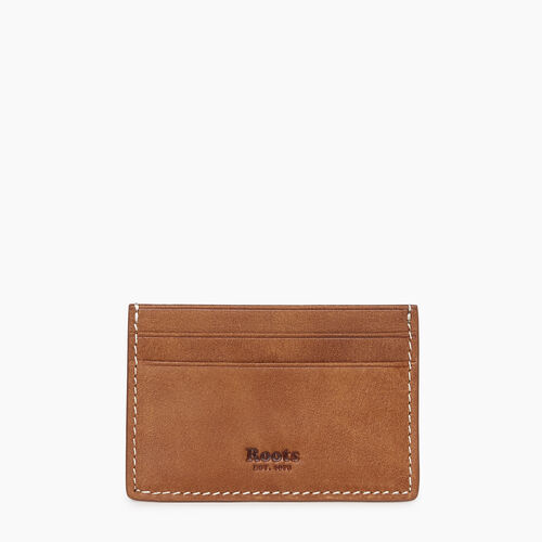 Roots-Leather  Handcrafted By Us Our Favourite New Arrivals-Card Holder Tribe-Natural-A