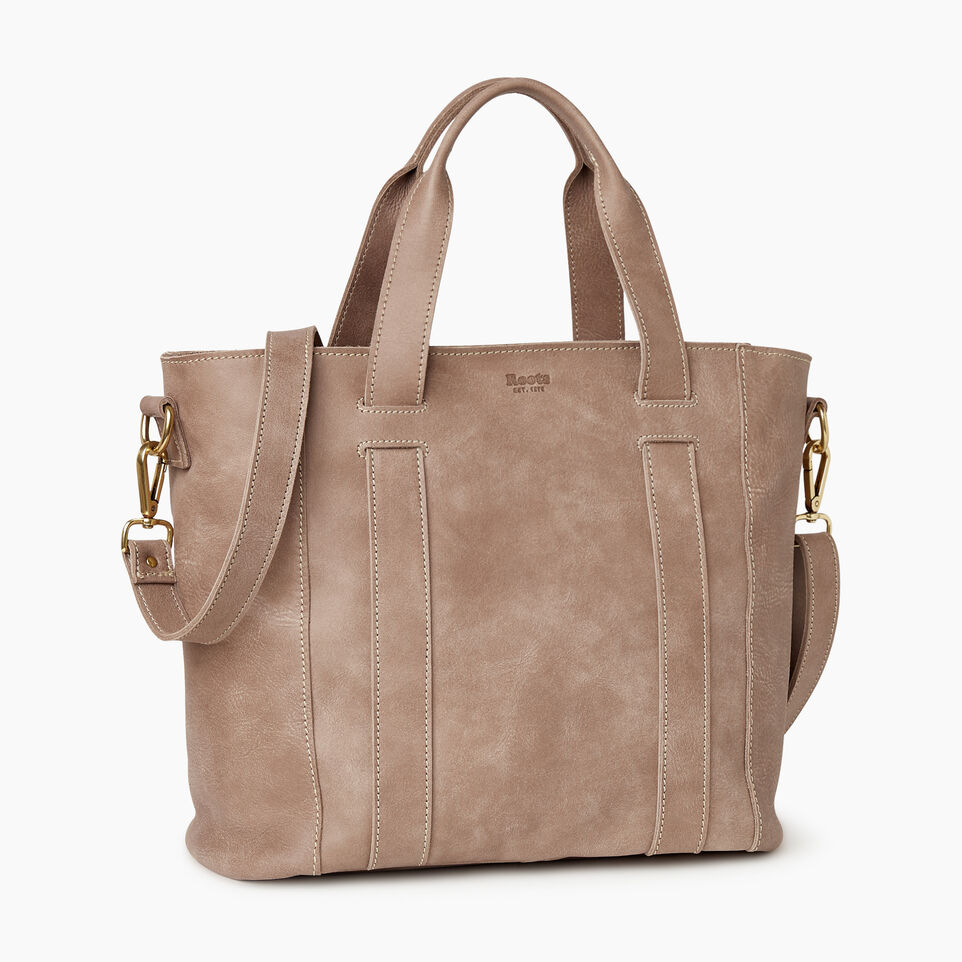 Roots-Leather  Handcrafted By Us Our Favourite New Arrivals-Victoria Tote-Fawn-A