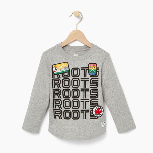 Roots-Kids T-shirts-Toddler Ski Patch T-shirt-Grey Mix-A