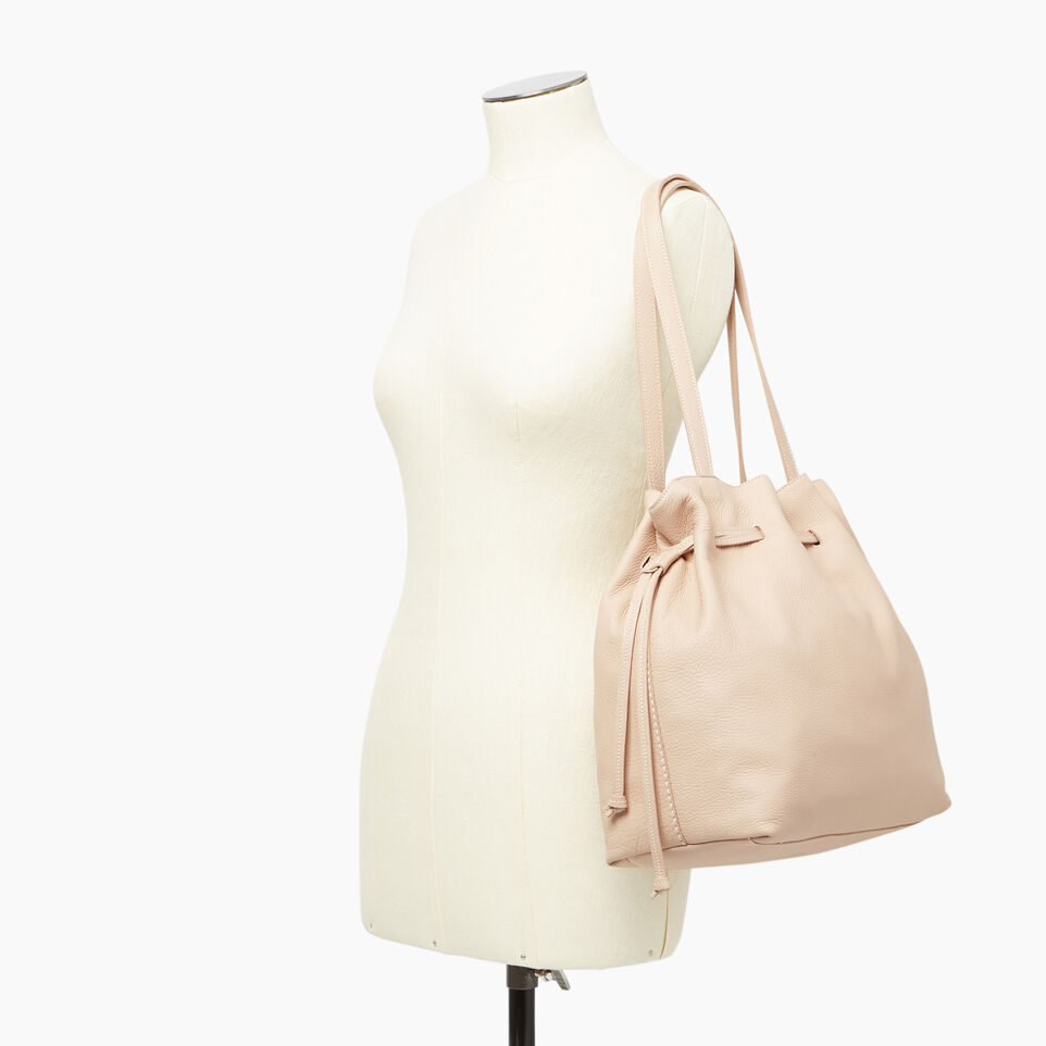 Roots-Leather  Handcrafted By Us Our Favourite New Arrivals-Sherbrooke Tote-Pink Mist-B