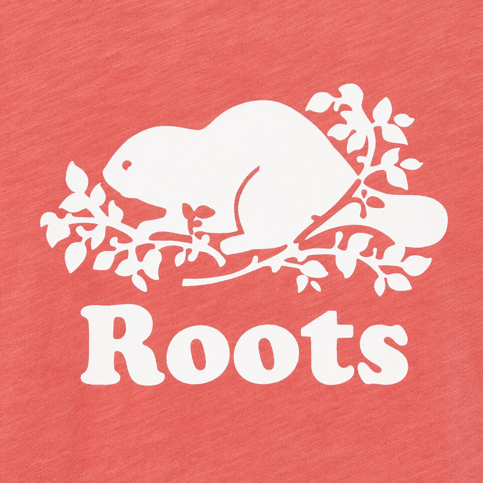 Roots-Women Clothing-Cooper Beaver Muscle Tank-Spiced Coral-D