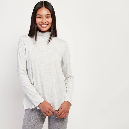 Roots-Women Long Sleeve Tops-Saybrook Turtleneck-White Mix-A