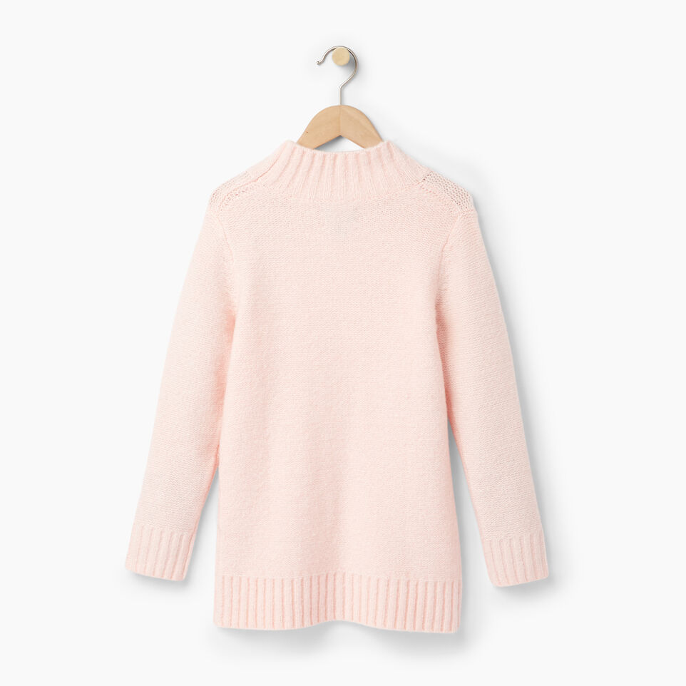 Roots-Clearance Kids-Girls Cable Knit Tunic Sweater-Light Pink-B