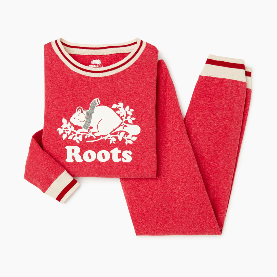 Roots-Kids Our Favourite New Arrivals-Girls Buddy Pj Set-Cabin Red Pepper-B