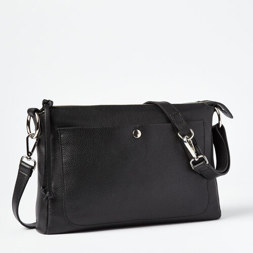 Roots-Winter Sale Leather Bags & Accessories-Sierra Bag Prince-Black-A