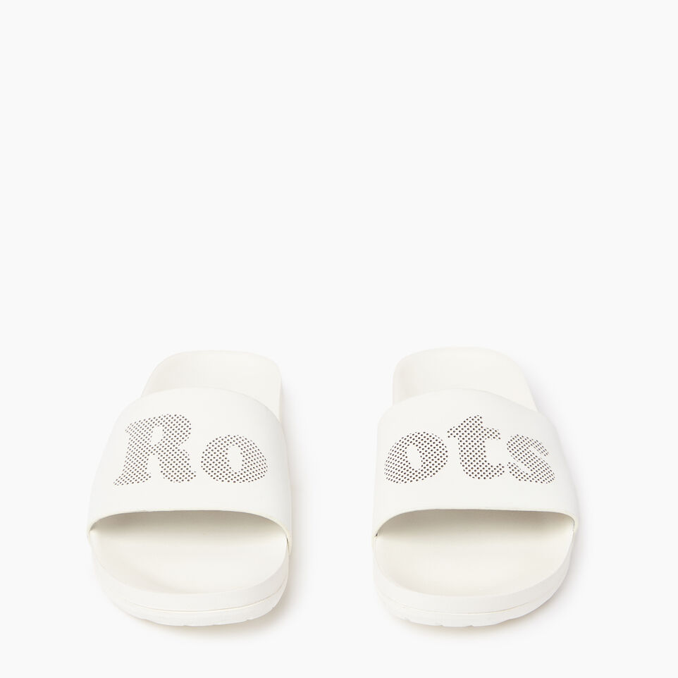 Roots-Footwear Women's Footwear-Womens Long Beach Pool Slide-Pearl-D