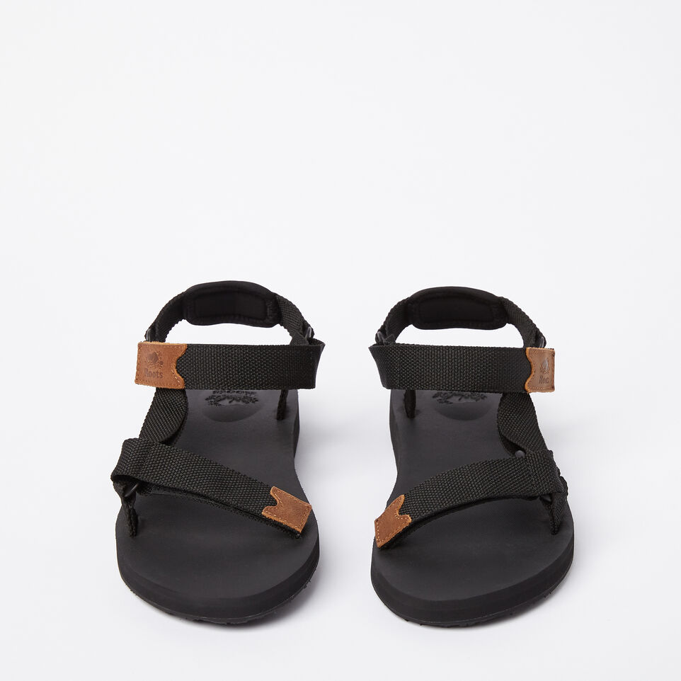 Roots-Clearance Footwear-Mens Tofino Sandal Web-Black-D