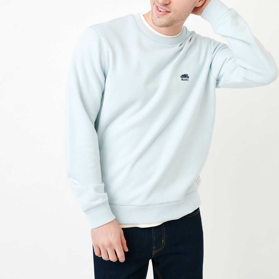 Roots-Men Our Favourite New Arrivals-Cooper Crew Sweatshirt-Baby Blue-A