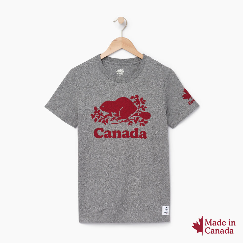 Roots-Women Canada Collection By Roots™-Womens Roots Canada T-shirt-Grey Mix Pepper-A